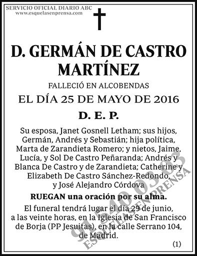 Germán de Castro Martínez
